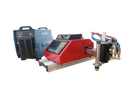 Découpe au plasma en acier en métal de coupe, coupeur de plasma de commande numérique par ordinateur avec rotatoire