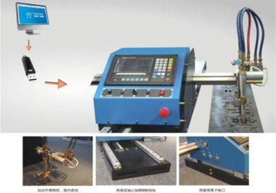 Découpeuse portative de plasma de commande numérique par ordinateur et découpeuse automatique de gaz avec la voie en acier