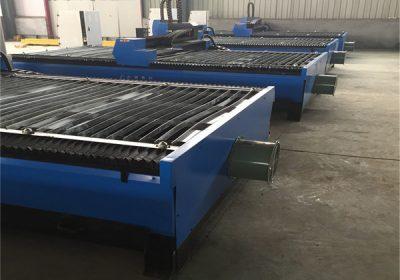 plaque de fer, acier au carbone, aluminium coupé 1325 43,63,100,200A THC découpeuse au plasma cnc en Chine for sale